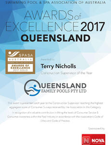 SPASA 2017 Gold Construction Supervisor of the Year
