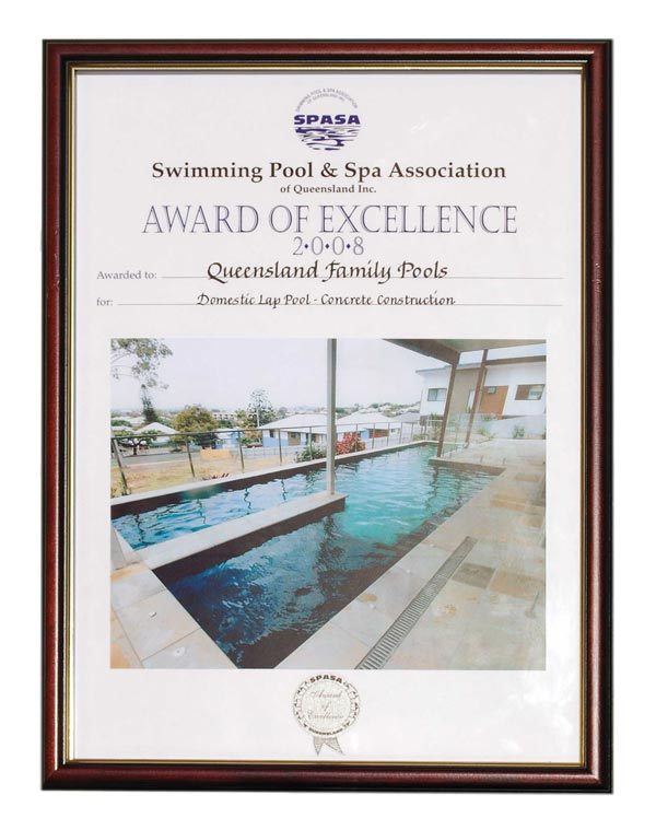 Our awards queensland family pools for Pool designs under 30000